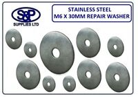 M6 X 30MM STAINLESS STEEL REPAIR WASHER PENNY WASHER MUDGUARD WASHER ST/STEEL