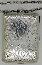 Blackinton RARE Sterling Silver Aide Memoir Card Case Box Art Nouveau