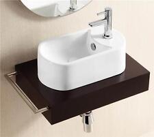 40.5cm x 20.5cm Narrow Basin Cloakroom Sink Countertop White Bathroom Washbasin
