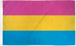 4x6 Pansexual Rainbow Pride Flag with Grommets LGBTQIA Pride Pan Pride Large