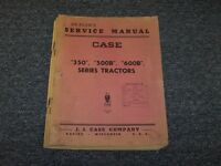 Case 350 500B 600B Series Tractor Workshop Shop Service Repair Manual Guide Book