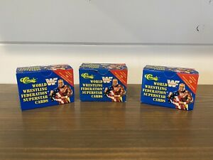 3 Individual WWF 1991 CLASSIC WRESTLING SET Boxes- Special No Reserve!!!!