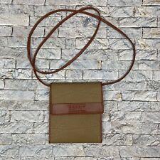 Esprit Brown Green Crossbody All In One Purse Wallet Organizer Bag Handbag