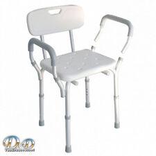 Sedia per doccia con braccioli e schienale estraibili antiscivolo per disabili