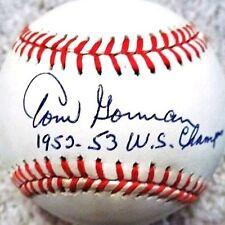 TOM GORMAN (D.1992) 1952-53 WS CHAMPS (NEW YORK YANKEES) OAL BASEBALL PSA/DNA