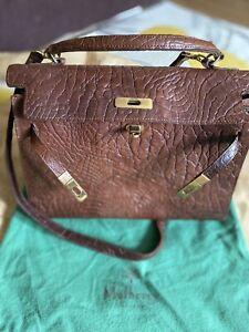 Mulberry Leather Shoulder/ Grab Bag Vintage