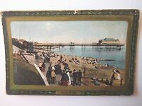 Folkestone Early 1900s Old Postcard 1914 Raphael Tuck Framed Gem Glosso Postcard