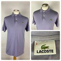 LACOSTE Mens Polo Shirt Top / 3 UK SMALL / DEVANLAY Cotton VTG 90s
