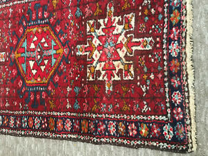 1920's Antique Oriental Tribal Runner 100%Vegetable Dyed Wool Hand Woven&Knotted