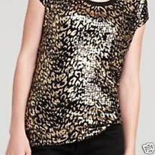NWT MICHAEL by Michael Kors Woman Plus Cheetah Sequin Top Gold/Black Size 1X