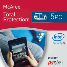 McAfee Total Protection 2021 5 PC 5 Appareils 1 An 2020 FR