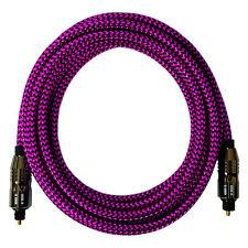 [i!] ® 10m Premium nylon ottico TOSLINK cavo | Digital Audio Hi-Fi LWL | Rosa