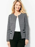 Talbots Size 8 Women's Textured Houndstooth Lined Jacket