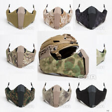FMA Paintball Airsoft Gunsight Mandible Half Face Mask for Rail of Fast Helmet