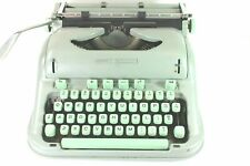 1963 Hermes 3000 Portable Typewriter-Metal Case-Manual-Brushes- Made Switzerland