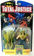"""DC Comics """"Total Justice HAWKMAN"""" Action Figure Carded 1996 Kenner Toys"""
