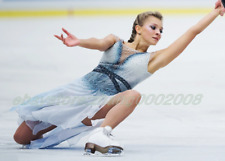 Shiny Ice Figure Skating Dress.Competition Acrobatic Twirling Baton Dance Outfit