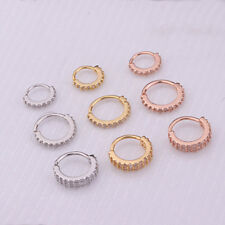 CZ Gems Nose Ring Piercing Snug Earring Helix Cartilage Tragus Daith Jewelry DIY
