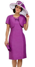 Purple Colour Mother of the Bride Skirt Suit Clothing