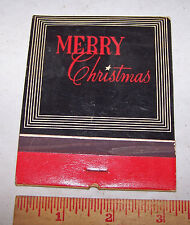 1940's Hallmark Merry Christmas Walter Lee Poem Oversized FEATURE Matchbook
