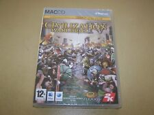 Sid Meier's Civilization IV Warlords **New & Sealed** MAC ONLY.