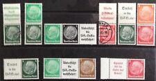 Germania TERZO REICH 1933-1936 Hindenburg in se-inquilino COPPIE/strisce Gomma integra, non linguellato/MLH