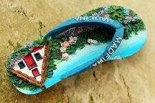 Portugal Madeira Travel Gift Souvenir 3D Resin Slipper Shaped Fridge Magnet Cute