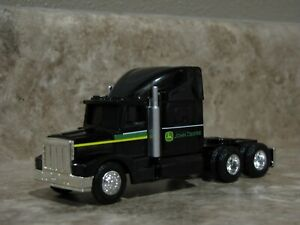 Ertl 1/64 Black Semi Truck John Deere Farm Toy Peterbilt Kenworth