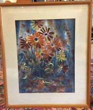 John Loughlin (1911-2004) Listed Rhode Island Artist Floral Painting