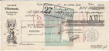 FACTURE SOCIETE ST RAPHAEL PARIS 1940