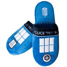 Doctor Who Tardis Pantoufles Chaussons Luxe Licence Pantoufles Bleu Nouveau