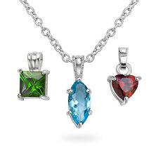 Silvertone Interchangeable Crystal Pendant ($49.99 value) (USA Seller)