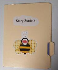 Story Starters File folder game enrichment activity upper Elementary level Mint