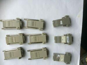 9 x 74-0495-01 console cable (CISCO?) 9 Way D to RJ45 Terminal Connector Adaptor