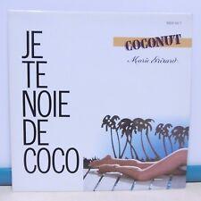 MAXI 45T Pub Alcool MARIE BRIZARD COCONUT Vinyle JE TE NOIE DE COCO + Flyer