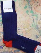 Paul Smith Mens Italian Socks Plain Wool Cashmere Mid-Thick Blue K616 One Size