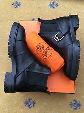 Hermes Mens Shoes Black Leather Chelsea Boots UK 6.5 US 7.5 EU 40.5 41