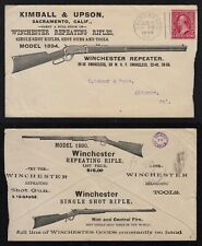 1899 WINCHESTER RIFLES ILLUSTRATED ADVERTISING COVER, KIMBALL & UPSON, CALIF.