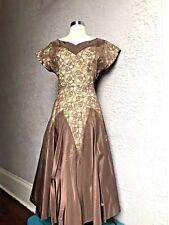 40's.50's Vintage Taffeta Lace Party Dress large XL