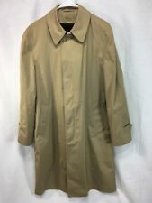 NOS Trench Over Coat VTG London Fog Mens 40 Jacket Removable SHERPA Liner USA