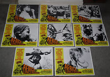 AFRICA UNCENSORED original 1972 lobby card set ADULTS ONLY 11x14 movie posters