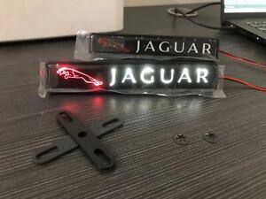 Jaguar XJ XE XF F LED light front grille badge illuminated decal logo
