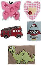 Childrens Boys/Girls  Floor Rugs Dinosaur, Heart, Rocket, Butterfly, Fire Engine