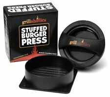 Grillaholics Stuffed Burger Press & Non Stick Hamburger Patty Maker for Burgers