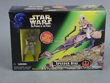 Vintage Star Wars SPEEDER BIKE w/ Exclusive PRINCESS LEIA ENDOR Figure #rk1-3