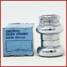 "NOS OFMEGA GRAN PREMIO HEADSET 1"" INCH ITALIAN THREADED VINTAGE 80s ROAD RACING"