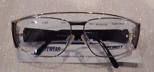 Vintage Infinity Eyewear Caz Silver/Blk 59/13 Eyeglass Frame New/Old Stock #196