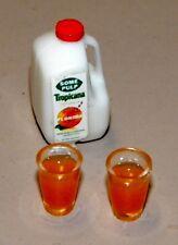 Dollhouse Miniatures, Orange Juice, Gallon Set, Hudson River
