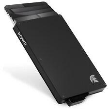POWR Card Holder Wallet, Mens Minimalist Slim Metal RFID Blocking Contactless