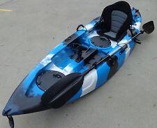 NEW SIERRA SINGLE FISHING KAYAK OCEAN KAYAK CANOE SEAT PADDLE BLUE BLACK WHITE